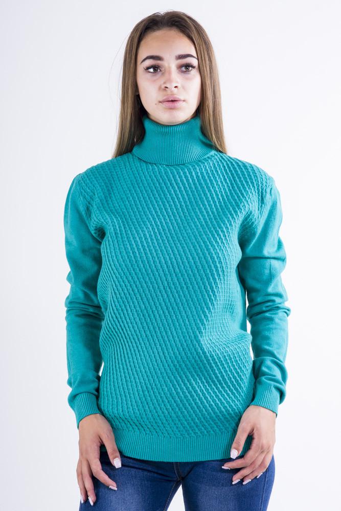 Гольф женский цвет Изумрудный размер S-M