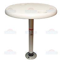 SF комплект стол круглый, диаметр  68см основание алюминий с замком