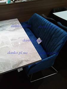 Кресло - банкетка Benavente (Бенавенте) синяя от Niсolas, велюр