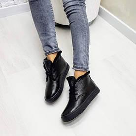 Черные кожаные хайтопы WHYNOT
