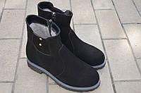 Ботинки женские натуральная замша черные зимние и демисезонные от производителя KARMEN
