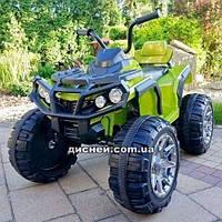 Детский квадроцикл M 3156 EBLR-10 с кожаным сиденьем, зеленый