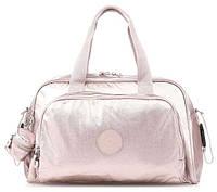 Женская дорожная сумка Kipling Basic розовая с ковриком пеленания