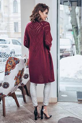 Літній кардиган з кишенями Емілі (марсала), фото 2