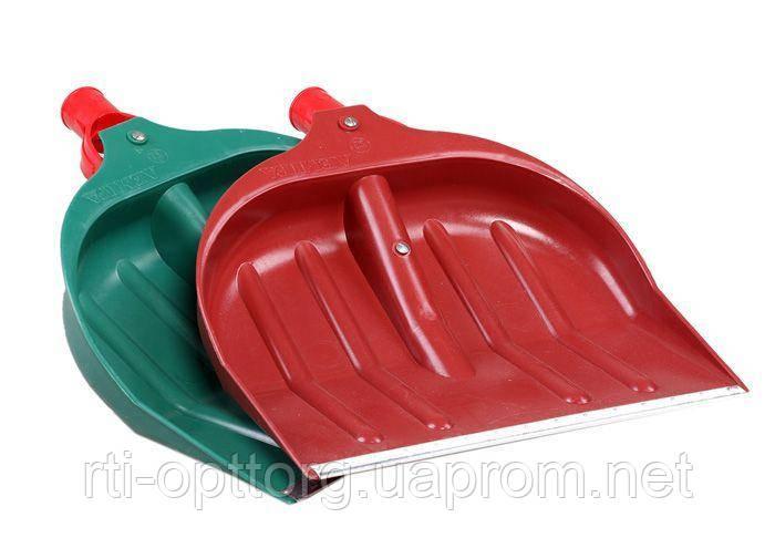 Лопата большая снегоуборочная пластмассовая без черенка (кромка оцинкованный профиль)
