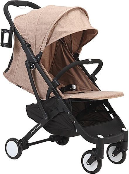 Прогулочная коляска Yoya Plus Бежевая с черной рамой (670063566)