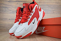 Кроссовки мужские Nike zoom 2k зимние яркие теплые найки, белые с красным, ТОП-реплика