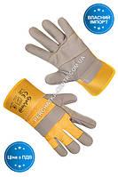 Перчатки Seven рабочие комбинированные ХБ/кожа утеплённая S-T08F, 11р.