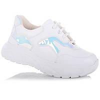 Яркие белые кроссовки на ребристой подошве для девочек NBB X-kids/FrreHeart 12.2.152 (26-36)