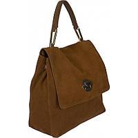 Сумка - рюкзак рыжая  женская натуральная замшевая сумочка