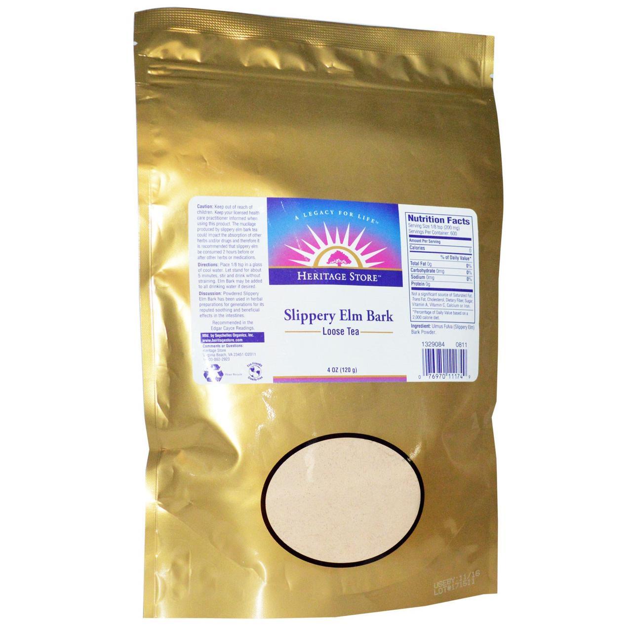 Heritage Products, Листовой чай с корой ржавого вяза, 4 унции (120 г)