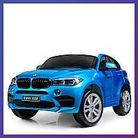 Детский электромобиль BMW c пультом и EVA колесами Bambi JJ2168EBLRS-4 Джип БМВ | Дитячий електромобіль Бембі