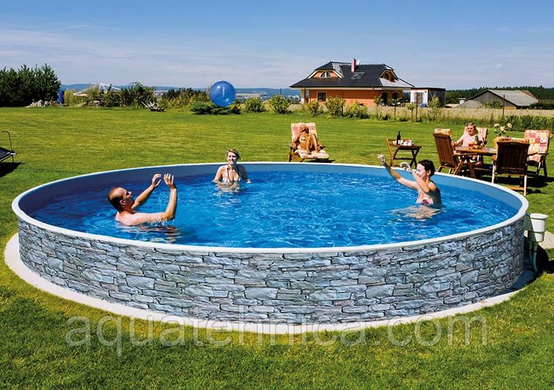 Басейн каркасний круглий Azuro Stone 4,6 х 1,2 м морозостійкий