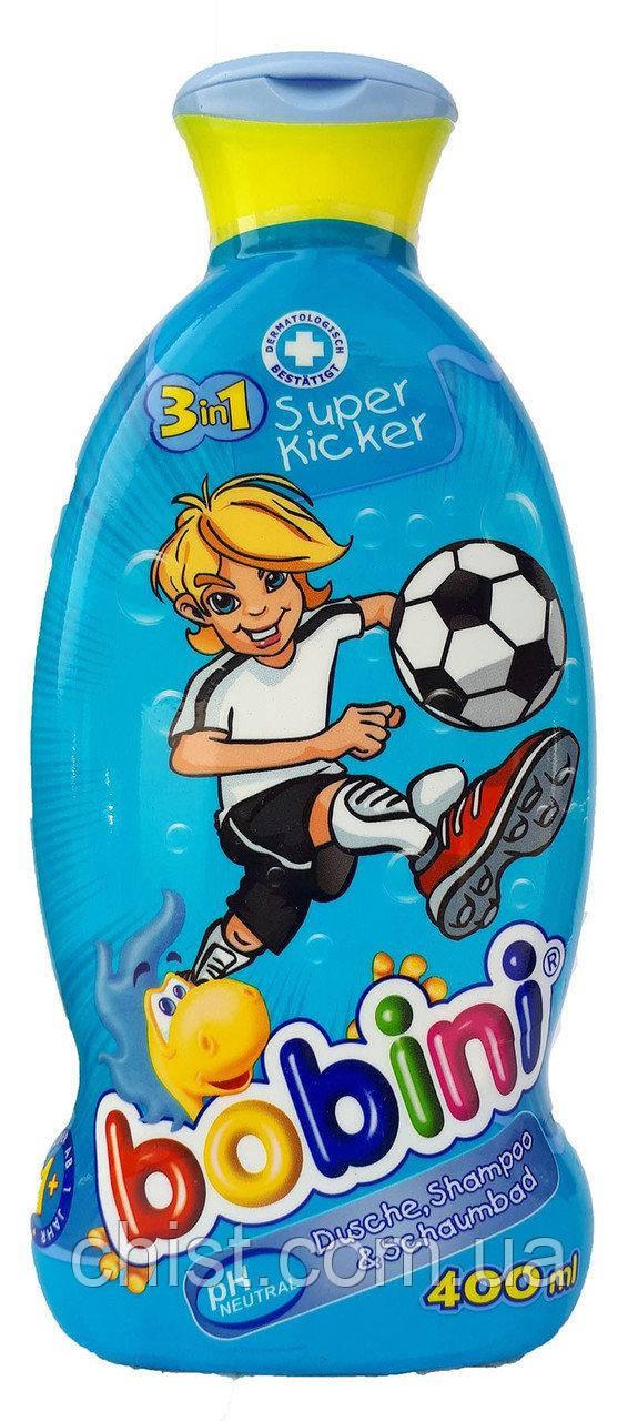 Bobini гель для душа детский 3в1 (400 мл) Футболист