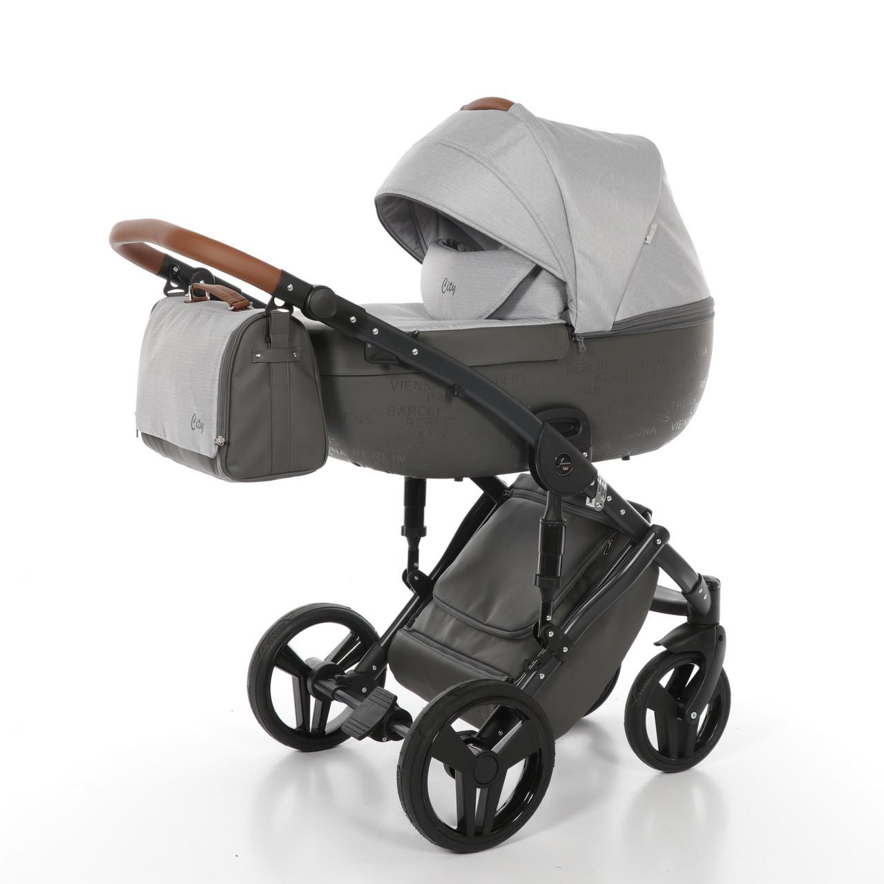 Детская коляска 2 в 1 Tako Junama City 02 Светло-серая (13-JC02)