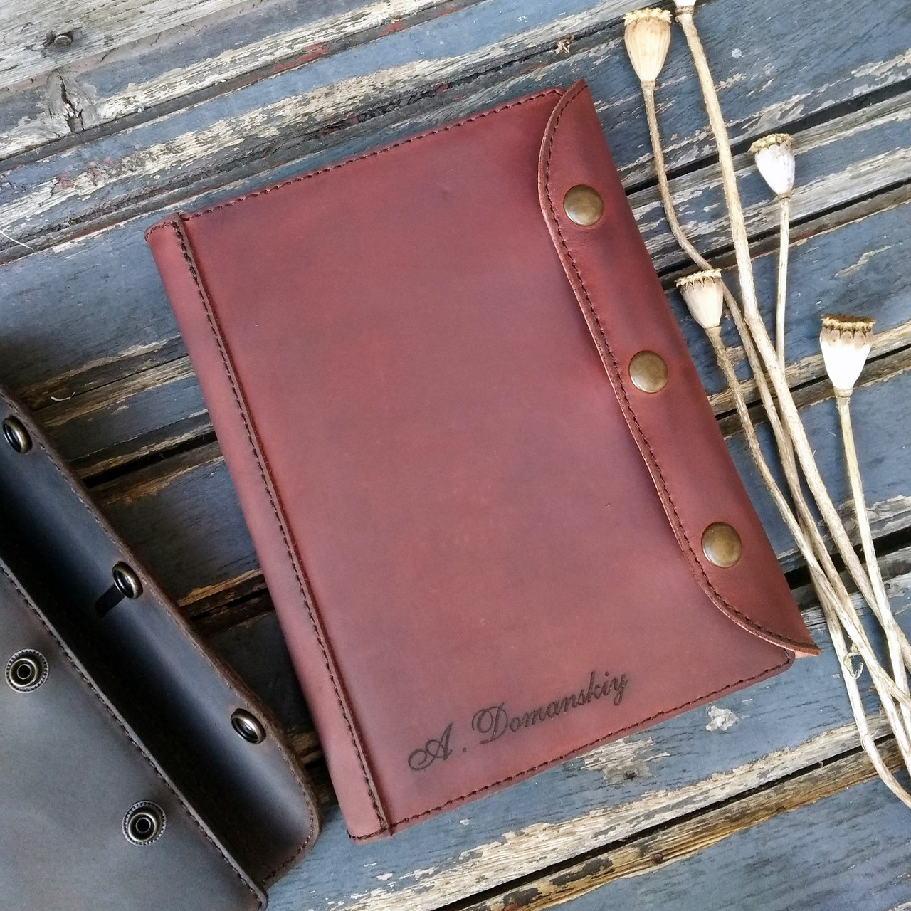 Ежедневник с кожаной обложкой. Обложка на блокнот. Лазерная гравировка изображений