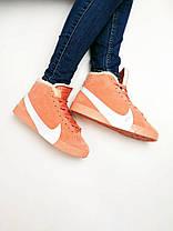 КРОССОВКИ Nike Blazer  Замша/ Мех, Nike Blazer  ЗИМНИЕ Женские, Розовые, Жіночі кросівки зимовi,36-40, фото 3