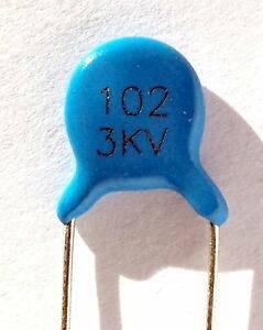 Керамический конденсатор 1000pF 3KV 102K 1nf 3000V, фото 2