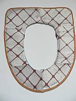Чехол для унитаза на липучках Sanitary goods, бежево-коричневый