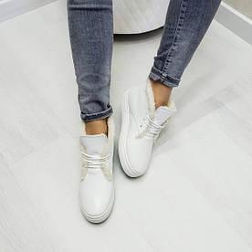 Белые кожаные хайтопы WHYNOT