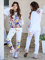 Тёплый женский костюм двойка (кофта + штаны) трёхнитка с начёсом + стёганый синтепон 150ой плотности