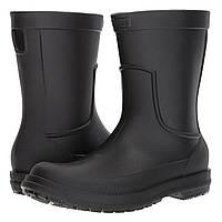 Сапоги резиновые мужские Crocs Men's AllCast Rain Boot / дождевики литые Черный, 42