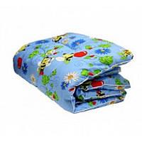 Детское одеяло в кроватку из Бязи Голд наполнитель Шерсть - 105х135