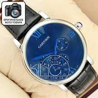 Часы Cartier silver/blue