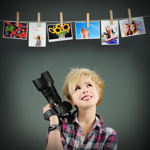 печать фотографий в наборе с прищепками и шпагатом для фотосушки