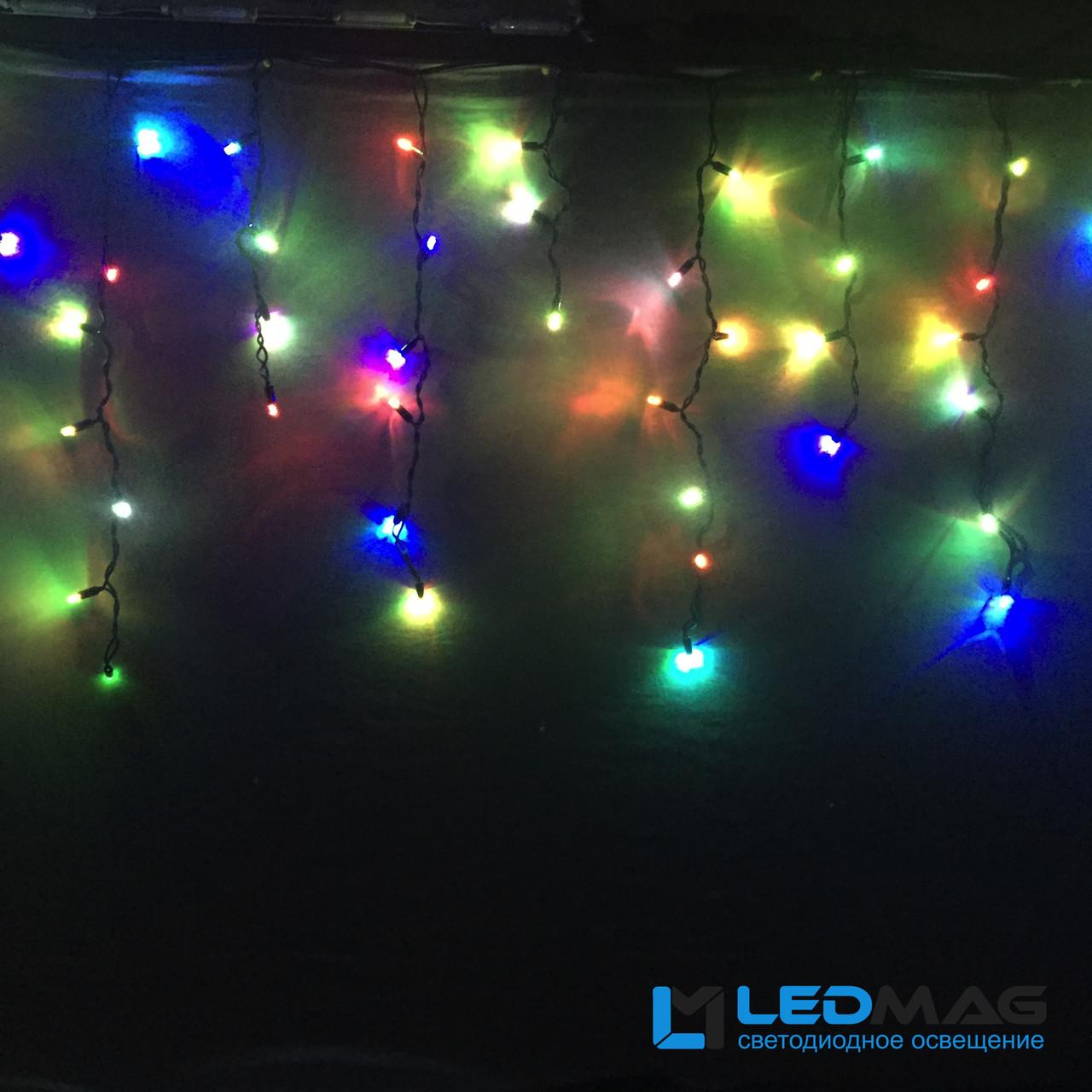 Светодиодная гирлянда уличная Бахрома Flash 3х0.7 м 100LED Каучук RGB