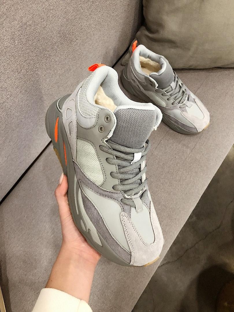 """Мужские зимние кроссовки Adidas yeezy boost 700 """"Gray"""""""