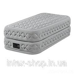 Надувная кровать Intex 64488, 99 х 191 х 51, со встроенным электрическим насосом