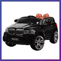 Детский электромобиль BMW c пультом Bambi M 3102 (MP4) EBLR-2 черный | Дитячий електромобіль Бембі чорний