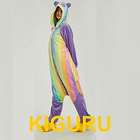Аниме костюм кигуруми панда радужная