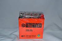 Аккумулятор 12V 5Ah гелевый высокий (119х60х129) YB5L-BS (оранжевый) BATTERY, фото 1