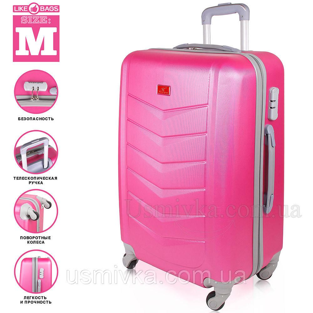 Модный пластиковый чемодан на колесиках Wanger