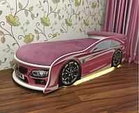 Кровать машина для девочки БМВ розовая