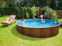 Каркасный бассейн круглый Azuro Easy 3,6 х 1,07 м с лестницей и песочным фильтром, фото 1
