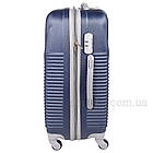 Пластиковый чемодан на 4-х колесах  Blue, фото 4