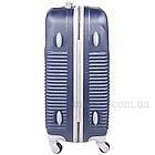 Пластиковый чемодан на 4-х колесах  Blue, фото 5