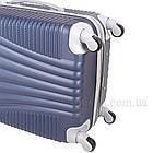 Пластиковый чемодан на 4-х колесах  Blue, фото 6
