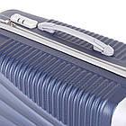 Пластиковый чемодан на 4-х колесах  Blue, фото 8