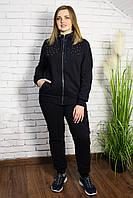 Женский теплый спортивный костюм однотон. Размер 50-52