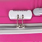 Фиолетовый пластиковый чемодан на колесиках  Purple, фото 5