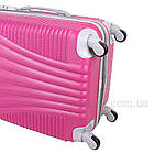 Фиолетовый пластиковый чемодан на колесиках  Purple, фото 7