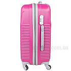 Фиолетовый пластиковый чемодан на колесиках  Purple, фото 4
