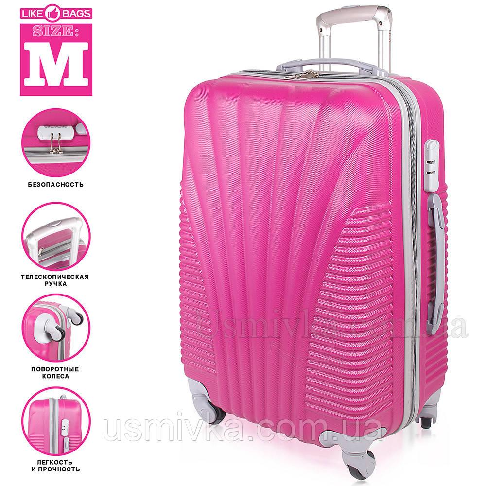 Фиолетовый пластиковый чемодан на колесиках  Purple