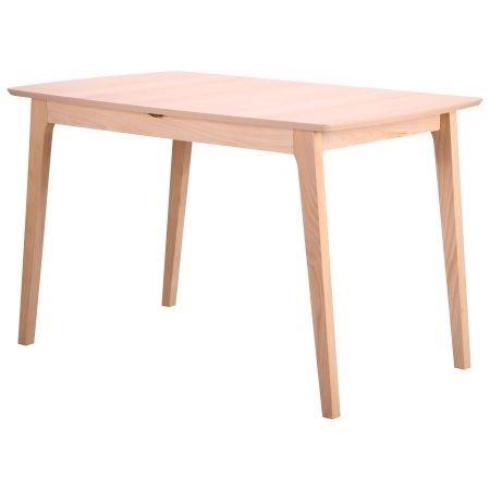 Стол обеденный раздвижной Конте бук беленый