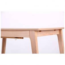 Стол обеденный раздвижной Конте бук беленый, фото 2