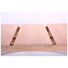 Стол обеденный раздвижной Конте бук беленый, фото 3